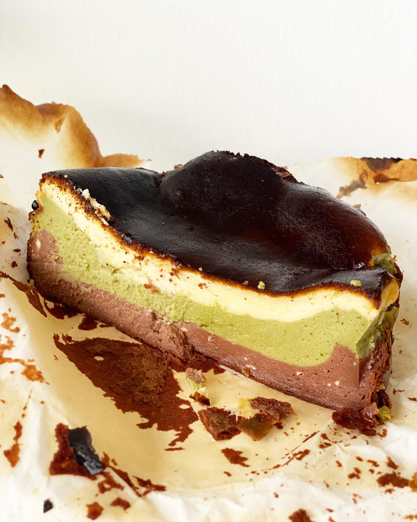 Triple Layer Basque Burnt Cheesecake Recipe
