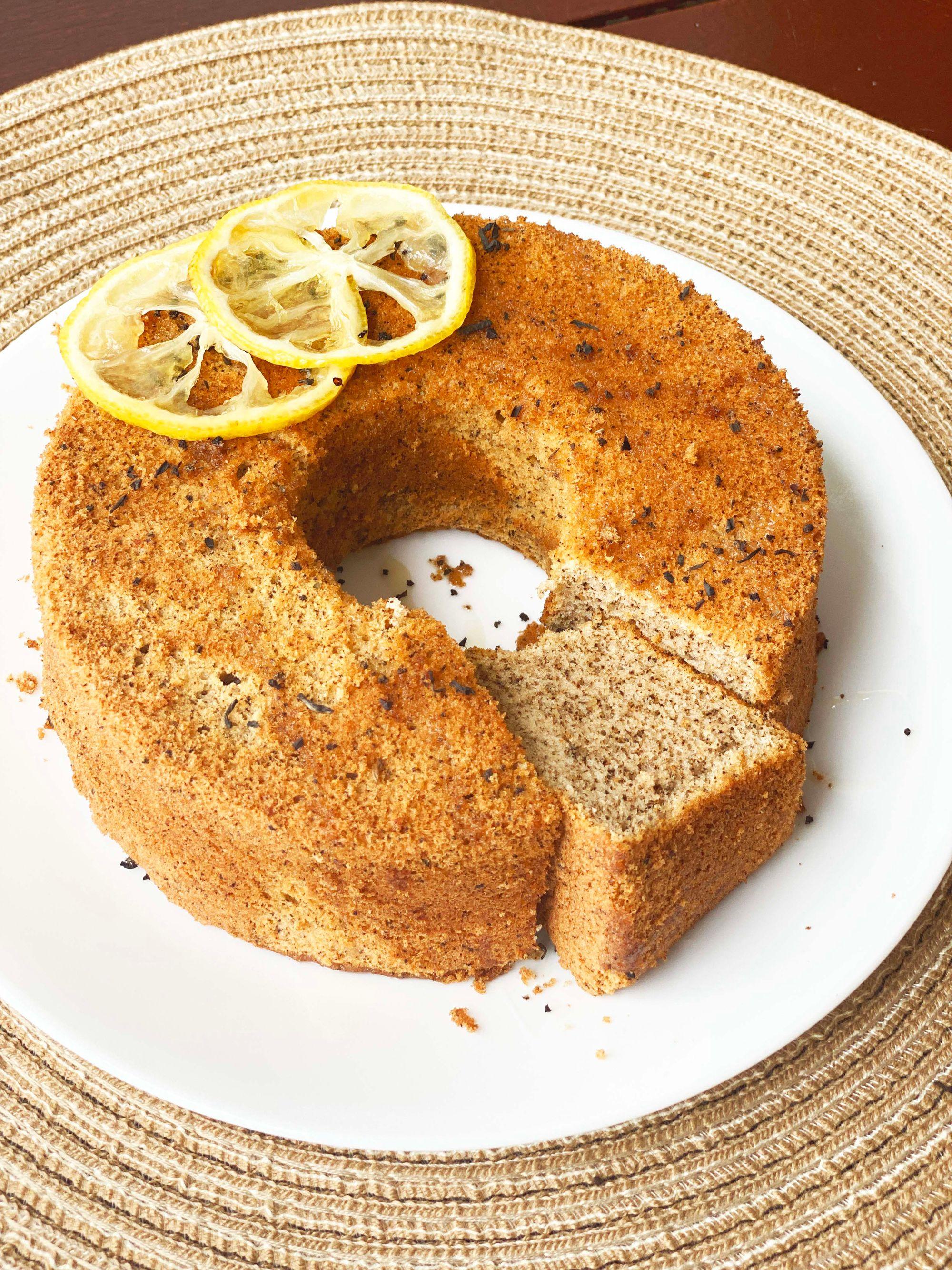 Lemon Tea Chiffon Cake