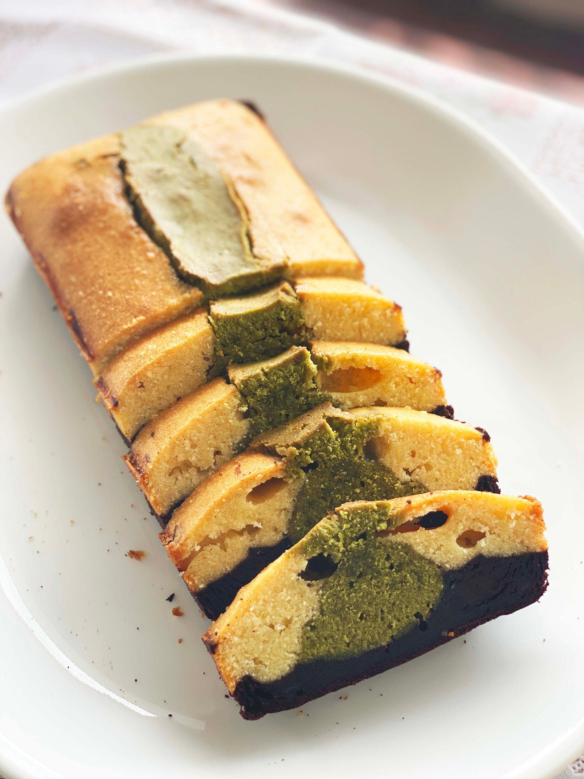 Matcha Green Tea Chocolate Butter Pound Cake