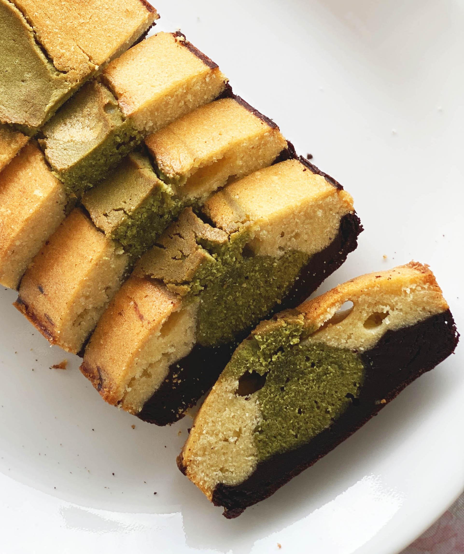 Matcha Fuji Pound Cake